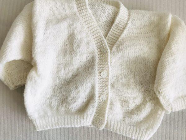 Gilet en laine 100% tricoté à la main